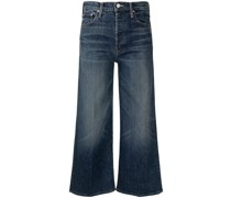 Weite Cropped-Taillenjeans