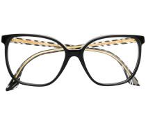 Eckige Oversized-Brille
