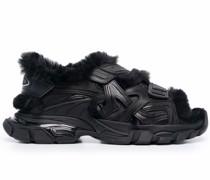 Track Sandalen aus Faux Fur