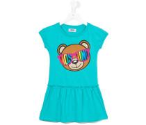 Kleid mit Teddybär-Print