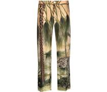 Hose mit Dschungel-Print