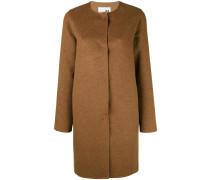 Kragenloser Mantel mit Knopfleiste