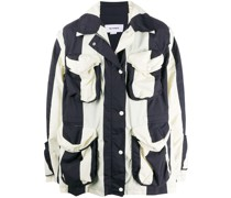 Oversized-Jacke mit Streifen-Print