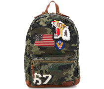 applique patch camouflage backpack