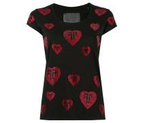 T-Shirt mit Herz-Applikation - women