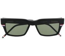 Eckige Sonnenbrille mit RWB-Streifen