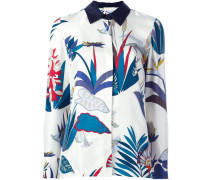Seidenhemd mit floralem Muster
