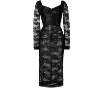 lace fitted midi dress