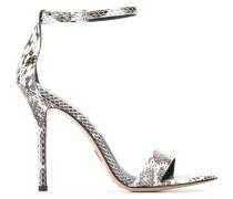 'Jacqueline' Sandalen aus Schlangenleder
