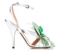 Stiletto-Sandalen mit Blumen