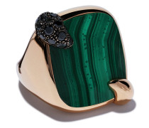 18kt 'Ritratto' Rotgoldring mit Diamant
