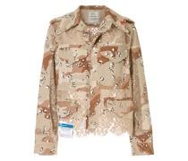 Military-Jacke mit Einsatz