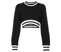 Cropped-Pullover mit Rundhalsausschnitt