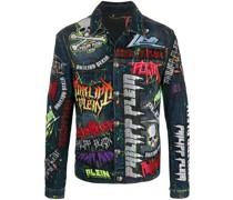 Verzierte 'Rock PP' Jeansjacke