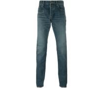 straight leg jeans - men - Baumwolle/Elastan