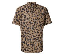 Florales Hemd mit gewebtem Design
