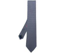 micro dog print tie