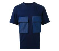 T-Shirt mit Kontrasttaschen