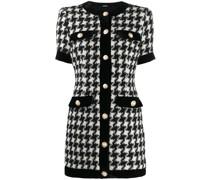 Kleid mit Hahnentritt-Print