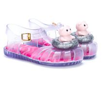 transparent jelly sandals