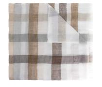 Schal mit Windowpane-Karomuster