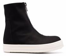 zipped high-top sneakers