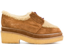 Loafer mit Shearling-Besatz