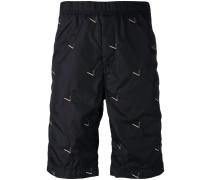 - Shorts mit Stickerei - men - Baumwolle/Nylon