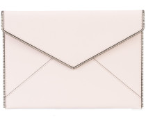 Clutch mit Zierkette - women - Leder