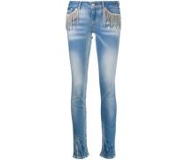 Jeans mit Kristallen