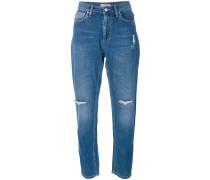 'Patti' Boyfriend-Jeans im Distressed-Look