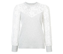 lace-embroidered sweater