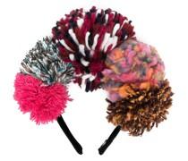 Haarreif mit Pompons