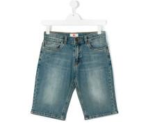 light wash denim shorts - kids