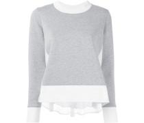 Sweatshirt mit Netzeinsatz