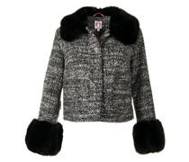 Tweed-Jacke mit Faux Fur