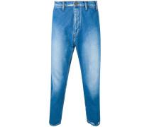 Cropped-Jeans in Distressed-Optik - men
