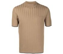 Geripptes T-Shirt aus Feinstrick