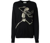 skeleton intarsia jumper