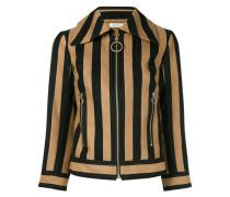 striped zipped jacket - women - Seide/Baumwolle