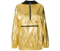 metallic pullover jacket