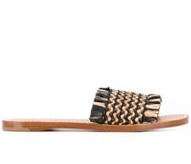 Geflochtene Sandalen aus Raffiabast