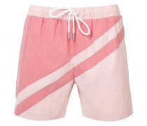 paneled swim shorts