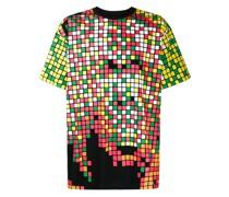 T-Shirt mit Quadratmuster