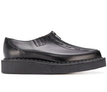 zipped chunky sole loafers