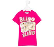 "T-Shirt mit ""Bling Bling""-Print"