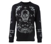 Sweatshirt mit Totenkopfstickerei