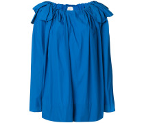 bow detail shoulder blouse