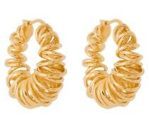 Vergoldete Creolen mit Spiralform