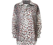 Oversized-Sweatshirt mit Leo-Print